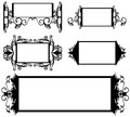 Frames vector set Stock Images