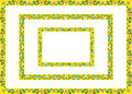 Frames yellow of flowers Royalty Free Stock Photography