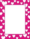 Framework with hearts Royalty Free Stock Photography