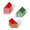 Framework houses set vector art Stock Photo