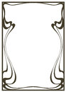 Framework in style art-nouveau Royalty Free Stock Photo