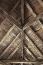 Framework wooden in a french farm Stock Image