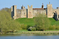Framlingham castle with mere in foreground Royalty Free Stock Images