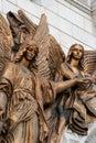 Frammento di mobilia esterna di un tempiale cristiano Fotografia Stock Libera da Diritti