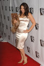 Fran drescher actress star of tv series living with with her dog esther at the wb tv network s all star celebration in Stock Images