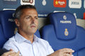 Fran escriba manager of getafe during a spanish league match against rcd espanyol at the power stadium on august in barcelona Stock Photo