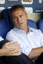 Fran escriba manager of getafe during a spanish league match against rcd espanyol at the power stadium on august in barcelona Stock Images