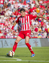 Fran sandaza of girona in action at the spanish second division league match between girona fc and cd lugo final score on june in Stock Photo