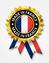 France badge made in golden Stock Photography