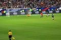 France belgium football match soccer v at the stade de june Stock Photography