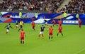 France belgium football match soccer v at the stade de june Stock Images
