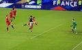 France belgium football match soccer v at the stade de june Stock Photo
