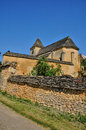 France the carlucet church in perigord Royalty Free Stock Image