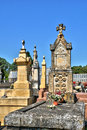 France cemetery of proissans in perigord the Royalty Free Stock Image