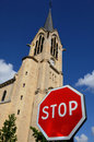 France, church Saint Pierre, Saint Paul, Les Mureaux Royalty Free Stock Image