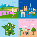 France Concept Icons Set Royalty Free Stock Photo