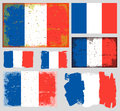 France flag collection vector Royalty Free Stock Photo