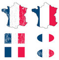 France flag set Stock Photos