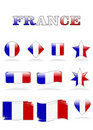 France flags button Royalty Free Stock Images