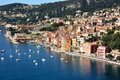 France, French Riviera, Villefranche/mer, natural harbour and citadel