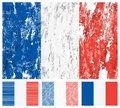 France grunge flag set Royalty Free Stock Image