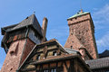 France haut koenigsbourg castle in bas rhin the Royalty Free Stock Photos