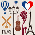 France isolated objects vector illustration eps Stock Images