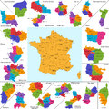 France map administrative division of the french republic Stock Image