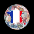 France map euros globe Stock Photo