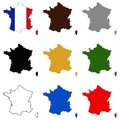 France map and flag - country in western Europe Royalty Free Stock Photo