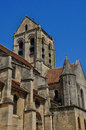 France the notre dame church of auvers sur oise ile de Stock Photo