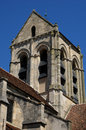 France the notre dame church of auvers sur oise ile de Royalty Free Stock Image