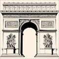 France - Paris - Arc de triomphe Royalty Free Stock Photo