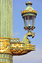 France, Paris: Old lamp-post Royalty Free Stock Images