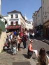 France paris sacre coer view of sacra tourists Stock Images