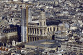 France, Paris; sky city view with church Stock Images