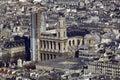 France, Paris; Sky City View With Church