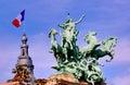 France, Paris:statue of Grand Palais Stock Photography