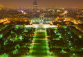 France. Paris. View from Tour Eiffel at night Royalty Free Stock Photos