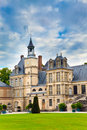 France. Park and a palace of Fontainebleau Royalty Free Stock Photography