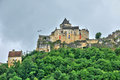 France picturesque castle of castelnaud in dordogne the Royalty Free Stock Photo