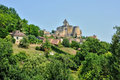 France picturesque castle of castelnaud in dordogne the Royalty Free Stock Image