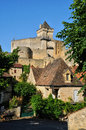 France picturesque castle of castelnaud in dordogne the Royalty Free Stock Images
