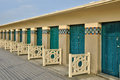 France the picturesque city of deauville in normandie beach huts Stock Photography
