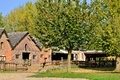 France picturesque village of bois guilbert in normandie the poney club Royalty Free Stock Images