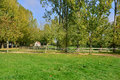France picturesque village of bois guilbert in normandie the poney club Stock Photos