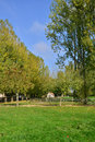 France picturesque village of bois guilbert in normandie the poney club Royalty Free Stock Image