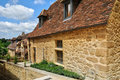 France picturesque village of montfort in dordogne the Royalty Free Stock Photos