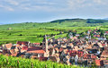 France, picturesque village of Riquewihr in Alsace Royalty Free Stock Photo