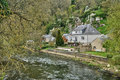 France picturesque village of saint leonard des bois the Stock Photography